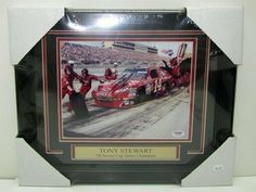 Tony Stewart SIGNED & FRAMED Nascar 8x10 Photo PSA/DNA K50323 . $110.67. Featured is a SIGNED & FRAMED Tony Stewart 8x10 photo. This was hand-signed at a private signing and includes PSA hologram and matching Certificate of Authenticity as shown. Stewart was the 2002 and 2005 Nextel Cup Series Champion.