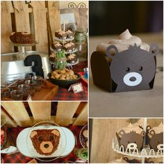 "Bear cupcakes/ Bear cake/ ""We're Going on a Bear Hunt"" Party"