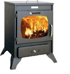 Wood Burning Stove Kupro Valenciana 8kW. PLEASURE OF A REAL FIRE : Enjoy a good,old-fashioned real fire! As an essential part of your interior architecture, a fireplace enhances your home and warms your rooms. as well as your soul! | eBay!