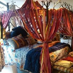 #Bohemian canopy bed.