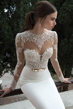 Style 14-15 by @Roberta Causarano Causarano Cruz  I #Lace #Illusion I http://www.weddingwire.com/wedding-photos/dresses/berta/i/6b0496d723d6c684-752e6fbbe5b37fbb