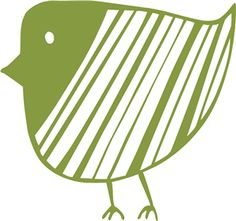 Silhouette Online Store: striped bird