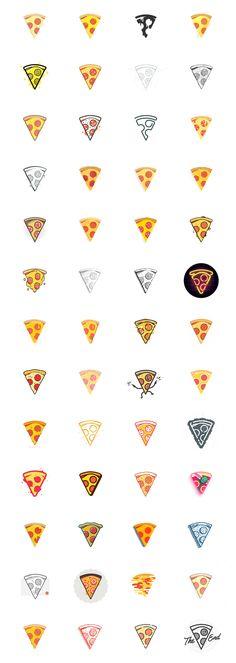52 Pizza Slice Project: 52 weeks of Pizza - 2015 on Behance 52 Pizza Slice Project: 52 Wochen Pizza Logo Design, Icon Design, Web Design, Graphic Design, Branding Design, Pizza Tattoo, Pizza Logo, Pizza Meme, Pizza Kunst