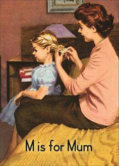 """'M' is for """"Mum"""" ~ Vintage ABC book Mum was also a disciplinarian at home."""