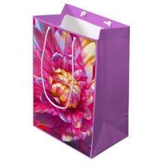 Watercolor Garden Flower #1 Medium Gift Bag