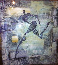 Acrylic paint on double acrylic glass  by Elisabeth Takvam