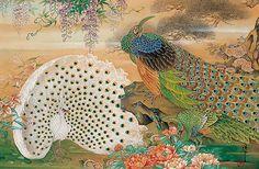 孔雀 日本画 - Google 検索