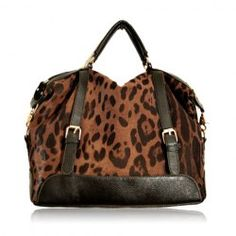 $27.65 Fashion Women's Tote Bag With Leopard Print and Buckle Design