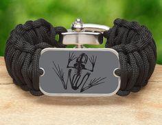 Wide Survival Bracelet™- Navy SEAL Foundation - Bone Frog Stealth