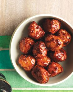 These smokey sweet meatballs will be a big hit at your party.