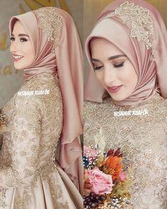 Turban Hijab, Hair Turban, Hijab Dress, Muslimah Wedding Dress, Muslim Wedding Dresses, Muslim Brides, Pakistani Bridal Dresses, Indian Bridal Wear, Muslim Girls