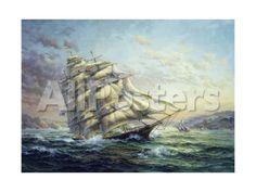 Clipper Ship Surprise Landscapes Giclee Print - 61 x 46 cm