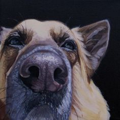 """Smooch #3"", 9"" x 9"", oil on canvas, 2013"