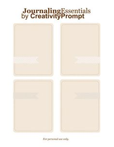 Freebie Pink Journaling Essentials by Creativity Prompt  http://www.creativityprompt.com/page/6/