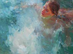 Saatchi Online Artist: Nelina Trubach-Moshnikova; Oil, Painting White Swan ( Swan lake)