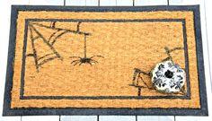 Halloween Front Door Decor:  Spider Web Door Mat
