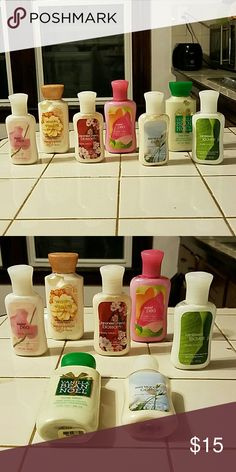 Bath and Body lotion 7 various scents of hand lotion (2 different sample sizes) Bath and Body Works Other