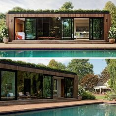 🎄Are You Looking For A Step-By-Step Shipping Container Home Guide which includes Hundreds of Modular Container Home Detailed Plans? Container Van House, Cargo Container Homes, Building A Container Home, Container Cabin, Container Design, Shipping Container Pool, Shipping Container Home Designs, Pool House Designs, Tiny House Design