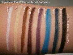 Illamasqua Eye Colouring Pencils Swatches - of Faces and Fingers Colouring Pencils, Eye Liner, Colored Pencils, Fingers, Swatch, Eyes, Art, Art Background, Eyeliner