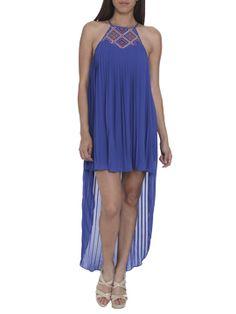 Bead Halter Trapeze Dress Dresses