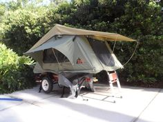 "Take one 40""x48"" HF frame kit + a Top-Tent tent unit, what do you get? A ultra-light, mobile bedroom for towing behind a Miata http://tventuring.com/trailerforum/thread-384.html"