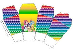 My Little Pony Strong Colors - Full Kit with frames for invitations, labels for snacks, souvenirs and pictures!   Making Our Party