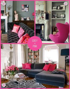How to Mix Grey with Bright Colours. inspiration for girls' room
