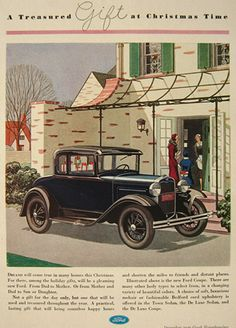 Vintage Ford Coupe Ad -1930