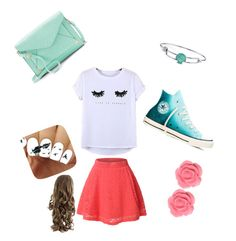 """""""Me"""" by aliciahokanson on Polyvore featuring LE3NO, Chicnova Fashion, Converse, Apt. 9, Disney and Dollydagger"""