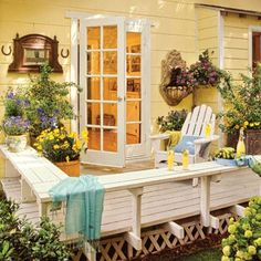 Decks  						  							Taking your deck from dull to dramatic can be as simple as integrating colors, materials, furnishings, and plantings that smooth the transition from indoors to out.