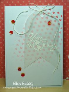 SCRAPS AND MORE: Stenciled online card class; dag1