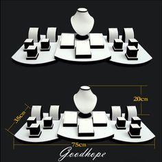 17Pcs Set White Faux Leatherette Necklace Earring Pendant Chain Jewelry Display Stand Holder Bust Form Window Showcase Torso Set-in Jewelry Packaging & Display from Jewelry on Aliexpress.com | Alibaba Group