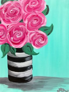 69 ideas easy art painting acrylic diy canvas for 2019 Cute Canvas Paintings, Easy Canvas Painting, Simple Acrylic Paintings, Diy Canvas Art, Diy Painting, Kids Canvas, Acrylic Painting Tutorials, Beginner Painting, Easy Flower Painting