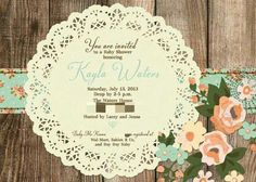 Shabby Chic Baby Shower | Shabby Chic Baby Shower Invitations