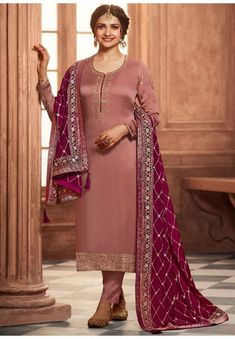 Georgette Satin Salwar kameez matching bottom and dupatta. Designed with embroidery and zari work, this suit can be customised in your own style and size. Fabric: Georgette satin, Botton: Georgette Satin, Dupatta: Chinon Work - Zari and Embroidery work Bust Size: 32-42 Bust. Size: (Small - 2XL) - UK Size (8 - 14) We can cover any party of your body. Pettite, Nursing And Customised Fitting Available. Georgette Fabric, Chiffon Fabric, Satin Fabric, Prachi Desai, Palazzo Suit, Salwar Kameez Online, Indian Ethnic Wear, Wedding Wear, Salwar Suits