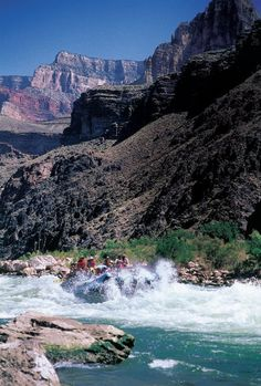 Rafting through the Grand Canyon followed by a helicopter out!!