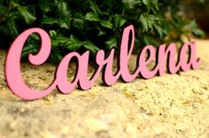 Personalized Name Letters Sign Plaque Nursery by MMCreativeGifts