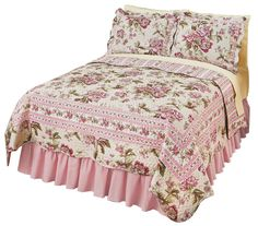 Pretty Peony Floral Quilt, by Collections Etc #CollectionsEtc #Contemporary #AllOccasion
