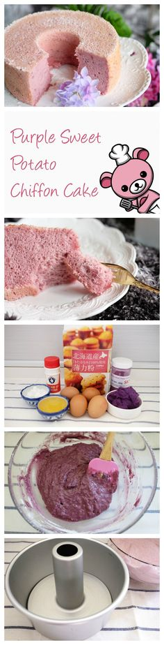 For a unique take on an ever-classic teatime treat, this Purple Sweet Potato Chiffon Cake adds an extra dimension of rich, earthy flavor into the chiffon taste we know so well and love. <3 So heavenly light and fluffy too! Can't wait for the afternoon to roll around!