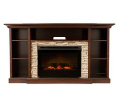 Merrick Fireplace | This TV console with electric fireplace will warm up your living space.