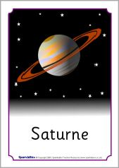 French planets posters (SB6331) - SparkleBox