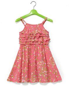 So pretty pink and little green flower dress Baby Girl Frocks, Frocks For Girls, Little Girl Dresses, Girls Dresses, Baby Girl Dress Design, Girls Frock Design, Baby Frocks Designs, Kids Frocks Design, Kids Blouse Designs