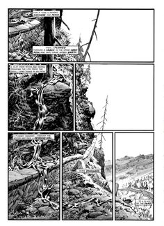 berni Comic Book Artists, Comic Books Art, Comic Art, Black And White Drawing, Black And White Illustration, Comic Drawing, Cartoon Drawings, Bernie Wrightson, Graphic Novel Art