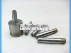 Sintered taper shank diamond drill bit for glass