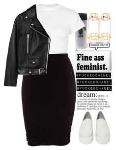 """""""Bref..."""" by fuckedchanel ❤ liked on Polyvore featuring Motel, T By Alexander Wang, Shellys, Acne Studios and Forever 21"""