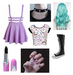 """""""Pastel goth_2"""" by leebobee on Polyvore"""