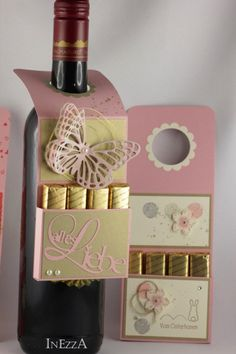 JanuarTraum Flaschenanhänger 3 Stk. von INEZZA  -  Geschenkestübchen auf DaWanda.com -geht auch mit alkoholfreiem Sekt :)