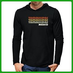 Teeburon Retro Color Tamaulipas Hooded Long Sleeve T-Shirt - Retro shirts (*Amazon Partner-Link)