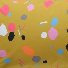 Geometric mulitcoloured shapes on a rich mustard base Cotton Brighten up your bed with super soft printed cotton. Mustard Bedding, Linen Bedding, Bed Linen, Flat Sheets, Fitted Sheets, Color Depth, Outlet, Cotton Quilts, Quilt Cover