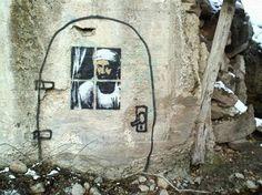 Banksy's Osama Bin Laden by hsinam12 on deviantART